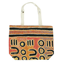 Outstations Folding Calico Bag - Biddy Napanangka Timms