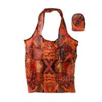 Warlukurlangu Aboriginal Fold Up Nylon Shopping Bag - Vaughan Springs