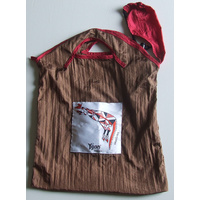 Yijan Aboriginal Art Nylon Folding Bag - Wallaroo (Red/Brown)