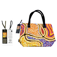 Bunabiri Aboriginal Art Dreaming Collection Handbag - Snake Dreaming