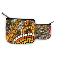 Bunabiri Aboriginal Art Keychain Coin Purse - Ochre Dots