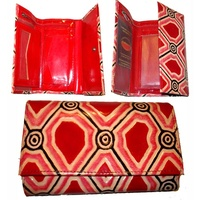 Iwantja Leather Ladies Wallet (Medium) - Scarlet