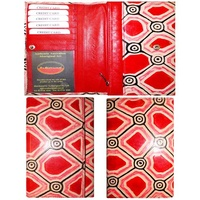Iwantja Leather Ladies Purse Wallet - Scarlet