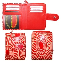 Iwantja Leather Ladies Wallet (Small) - Red