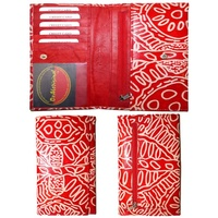 Keringke Leather Ladies Wallet (Clutch) - Red