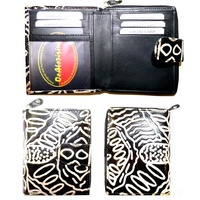 Keringke Leather Ladies Wallet (Small) - Black