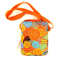 Jijaka Aboriginal Art Passport Bag - Firestones