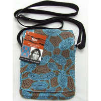 Yijan Aboriginal Art Passport Bag - Women Travel Dreaming