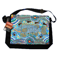 Bunabiri Aboriginal Art Satchel Bag - Barramundi