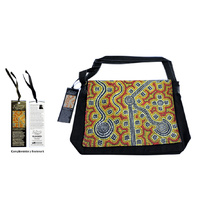 Bunabiri Aboriginal Art Satchel Bag - Brush-Tailed Possum Dreaming
