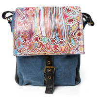 Warlu Leather/Canvas Satchel Bag - Mina Mina Dreaming