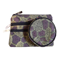 Yijan 3 Zip Cosmetic & Coin Purse Set - Women Travel Dreaming (Gold)