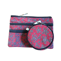 Yijan 3 Zip Cosmetic & Coin Purse Set - Women's Ceremony on Yuendamu (Red)
