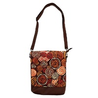 Jijaka Aboriginal Art Shoulder Bag - Riverstones