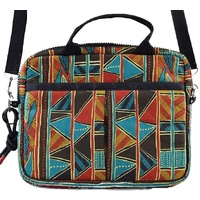 Jijaka Aboriginal Art Canvas Crossover Bag - Bark