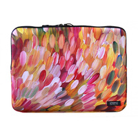 Utopia Aboriginal Art Neoprene Laptop Sleeve - Leaves