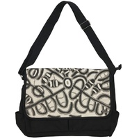 Outstations Laptop Satchel Bag by Molly Tasman (Black)
