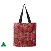 Warlukurlangu Aboriginal Art Cotton Tote Bag - Emu Dreaming