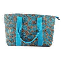 Yijan Small Tote Bag - Women's Travel Dreaming (Turquoise)