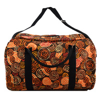 Jijaka Overnight Travel Bag - Riverstones (Orange)