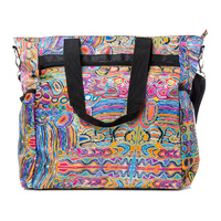 Warlukurlangu Aboriginal Art Large Travel Bag - Mina Mina Dreaming