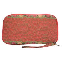 Warrina Passport Travel Wallet (Large) - Fire Dreaming Red