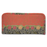 Warrina Passport Travel Wallet (Small) - Fire Dreaming Red
