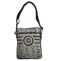 Outstations Aboriginal design Cross Body Shoulder Bag - Biddy Timms