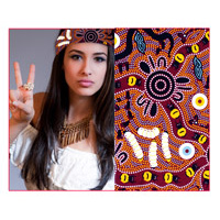 Bulurru Aboriginal Dot Art Triangular Bandana - Bush Tucker