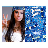 Bulurru Bandana - Bush Tucker (Blue)