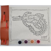 Jijaka Aboriginal Art Kid's Canvas Art Kit - Crocodile
