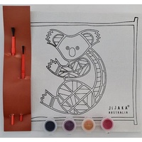 Jijaka Aboriginal Art Kid's Canvas Art Kit - Koala