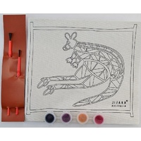 Jijaka Aboriginal Art Kid's Canvas Art Kit - Kangaroo