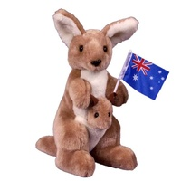 Plush Toy - Koala & Baby with Flag (21cm]