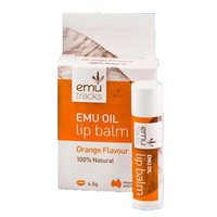Emu Tracks Emu Oil Lip Balm - Orange Flavour