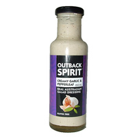 Outback Spirit Creamy Garlic & Pepperleaf Salad Dressing 250mls - CLR