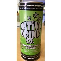Native Drink Co - Finger Lime & Apple Sparkling Water - 250ml