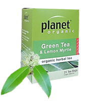 Planet Organic Green Tea/Lemon Myrtle Native Tea 25bags