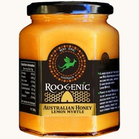 Roogenic Australian Honey/Lemon Myrtle (380g Glass Jar)