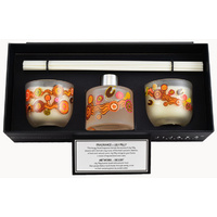 Jijaka Aboriginal Art Candle Diffuser Set- Desert Journey