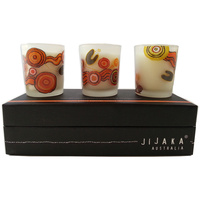 Jijaka Aboriginal Art Candle Set (3) - Desert Journey