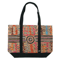 Outstations Canvas Tote Bag - Biddy Timms (Brown/Black)
