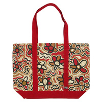 Outstations Canvas Tote Bag - Gladys Tasman (Red)