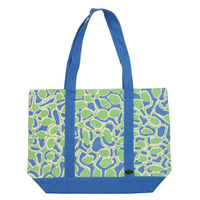 Outstations Canvas Tote Bag - Molly Tasman (Blue/Green)