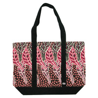 Outstations Canvas Tote Bag - Norman Cox (Red Leaf)