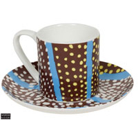 Warlukurlangu China Espresso Set - Flood Waters