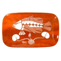 Yijan Aboriginal Art Bone China Platter - Namarnkol (Barramundi)