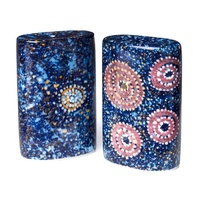 Warlukurlangu Aboriginal Art Fine Bone China Salt n Pepper Shakers - Seven Sisters Dreaming