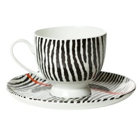Warlukurlangu Aboriginal Art Fine Bone China Tea Cup & Saucer Set - Kurkarra
