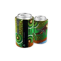 Bunabiri Aboriginal Art Neoprene Can Cooler - Crocodile Dreaming